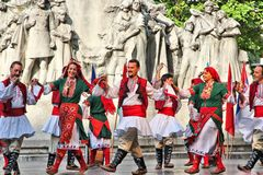 Bulgarian folk dance Royalty Free Stock Photos