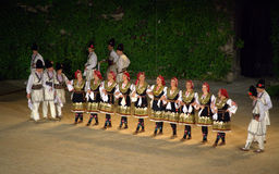Bulgarian folk dance group Royalty Free Stock Photo
