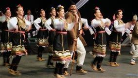 Bulgarian folk dance stock video