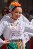 Bulgarian folk dancer. MONTREAL QUBEC CANADA 08 01 2015: Bulgarian folk dancer are intimately related to the music of Bulgaria feature of Balkan folk music is stock photo
