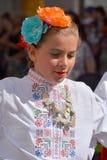 Bulgarian folk dancer Royalty Free Stock Images