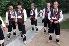 Bulgarian folk dancers Royalty Free Stock Image