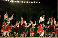 Bulgarian folklore dance  Stock Images