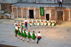 Bulgarian folklore dance spectacle Royalty Free Stock Photography