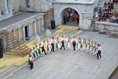 Bulgarian folklore dancers Stock Image