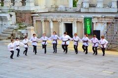 Bulgarian folklore dancers Royalty Free Stock Image