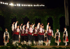 Bulgarian folklore dancers Stock Photos