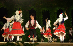 Bulgarian folklore dancers Stock Photo