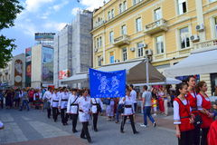 Bulgarian folklore group at parade,Plovdiv Stock Images