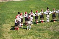 Bulgarian folklore and masquerade festival Varvara stock images