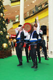 Bulgarian folklore performance. Christmas performance of bulgarian folklore formation in Mall Serdika -  24. 12. 2012, Sofia, Bulgaria Royalty Free Stock Photo