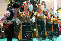 Bulgarian folklore performance Stock Photo