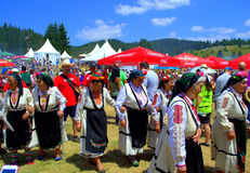Bulgarian folklore singers at festival Royalty Free Stock Image