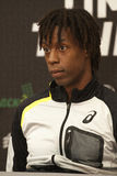 Bulgarian and French tenis players Grigor Dimitrov Gael Monfils Stock Image
