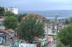Bulgarian ghetto view,Maksuda,Varna Stock Photo