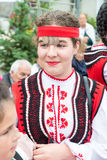 Bulgarian girl in national costume at the Nestinar Games in Bulgaria Stock Image