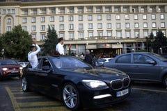 Bulgarian graduates scene,Plovdiv city Royalty Free Stock Photography