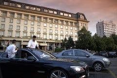 Bulgarian graduates scene,Plovdiv city Royalty Free Stock Photo