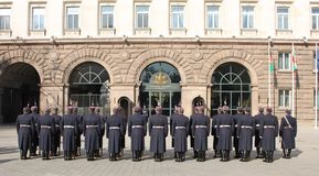 Bulgarian guard regiment. Salutes a new ambassador to Bulgaria, Sofia, 5. 03. 2013 Stock Photos