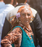Bulgarian gypsy on holiday in Pomorie Royalty Free Stock Photography