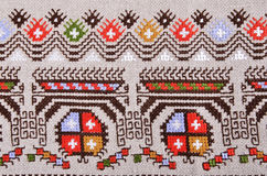 Bulgarian hand embroidery Royalty Free Stock Images