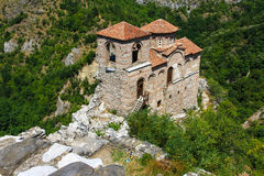 Bulgarian historical monument. View from the mountain Royalty Free Stock Image