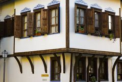 Bulgarian house. House in the old city og Plodiv in Bulgaria stock photography