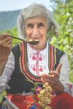 Balkan lady of the Rose festival royalty free stock photos
