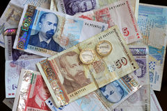 Bulgarian Lev. Close up shot of Bulgarian Lev money banknotes Royalty Free Stock Image