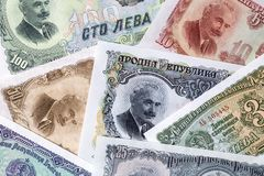 Bulgarian lev, a background. Old Bulgarian lev, a background Stock Photography