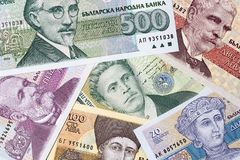 Bulgarian lev, a background. Old Bulgarian lev, a background Royalty Free Stock Photos