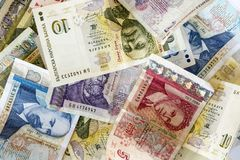 Bulgarian lev money banknotes Stock Images
