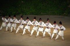 Folk dancers Stock Images