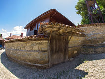 Bulgarian manor house in the mountain village Royalty Free Stock Photo