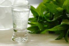 Bulgarian Mastika. Chilled mastika alkohol with aniseed flavour (tastes like greek ouzo Stock Images