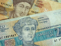 Bulgarian money. Details from an old bulgarian banknote Royalty Free Stock Image