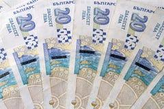 Bulgarian money. Close up of 20 bulgarian levs Stock Photos