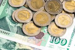 Bulgarian money - banknotes and coins Stock Image