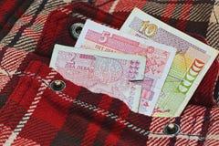 Bulgarian money in work shirt pocket Stock Photography