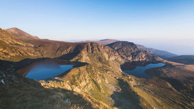 Bulgarian Mountain Lakes by Sunrise Royalty Free Stock Image