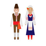Bulgarian national costume. Illustration of national dress on white background Royalty Free Stock Image