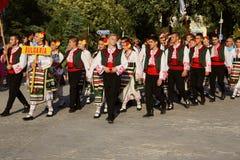 Bulgarian national costumes parade