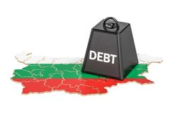 Bulgarian national debt or budget deficit, financial crisis conc. Ept, 3D Royalty Free Stock Photos