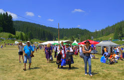 Bulgarian National Fair people,Rozhen Stock Image