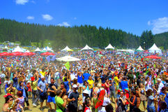 Bulgarian National Fair thousands participants Royalty Free Stock Images