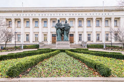 The Bulgarian National Library St. Cyril Methodius before celebrate the anniversary of brother Stock Image