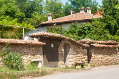 Bulgarian National rural architecture in Arbanasi Royalty Free Stock Photo
