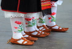 Bulgarian National Shoes and Socks Stock Image