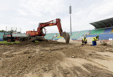 Bulgarian national stadium renovation Stock Photo