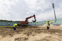 Bulgarian national stadium renovation Royalty Free Stock Image